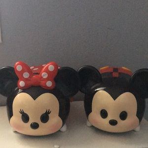 Tsum Tsum plastic carrier Minnie and Mickey Mouse